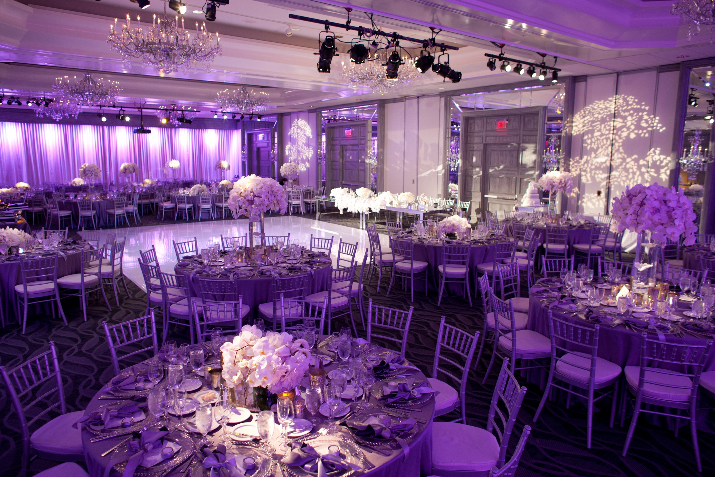 Great View Of The Ballroom Setup For A Reception